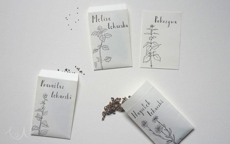 Herbs seeds simple packaging / nasiona ziół
