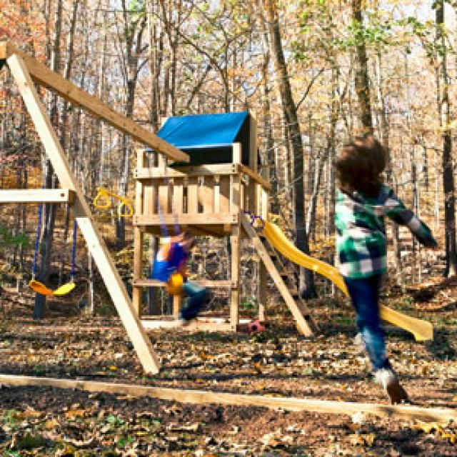 10 diy wooden swing set plans free swing set plan from for Child swing plans free