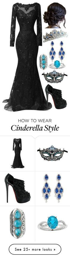 """""""Untitled #687"""" by fatimaflores123 on Polyvore featuring Masquerade, Tribe, Christian Louboutin and CZ by Kenneth Jay Lane"""