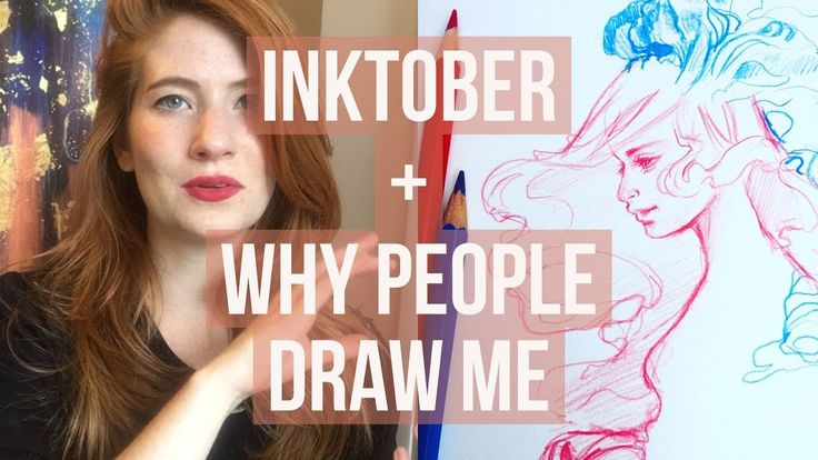 Why do people draw me? Inktober, my drawings and instagram followers
