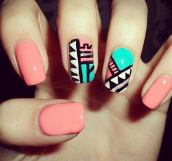 Tribal nail design fashion girly cute photography nails girl nail polish  nail pretty girls photo style french tribal pretty nails nail art french  tips ... - 8 Best Fun Nail Designs Images On Pinterest Heels, Nail Scissors
