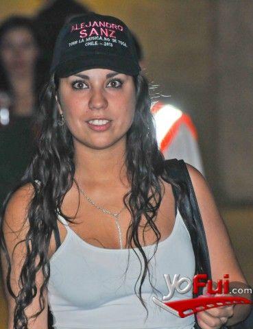 YoFui.com: Nicole Navarro en Concierto  de Alejandro Sanz, Movistar Arena, Santiago (Chile)