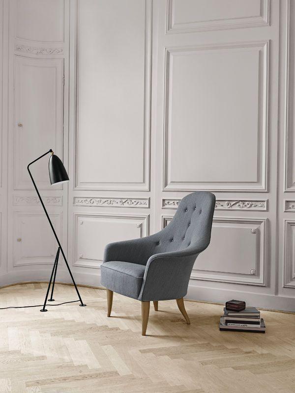 GUBI // Adam chair and Gräshoppa floor lamp