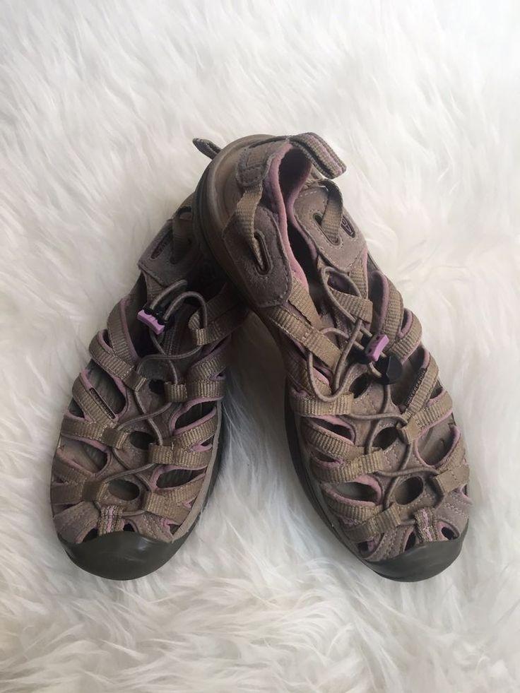 Keen Size 7.5 Khaki Gray Purple Lilac Whisper Waterproof Outdoors Hiking Sandals #KEEN #WalkingHikingTrail