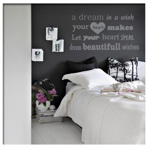Muursticker Tekst a dream is a wish