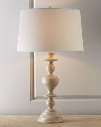 """""""Ben"""" Turned Wood Lamp by Arteriors at Horchow."""