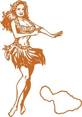 Hula Girl Tattoo Paia Maui Hawaii tattoos tattoo shops in Maui
