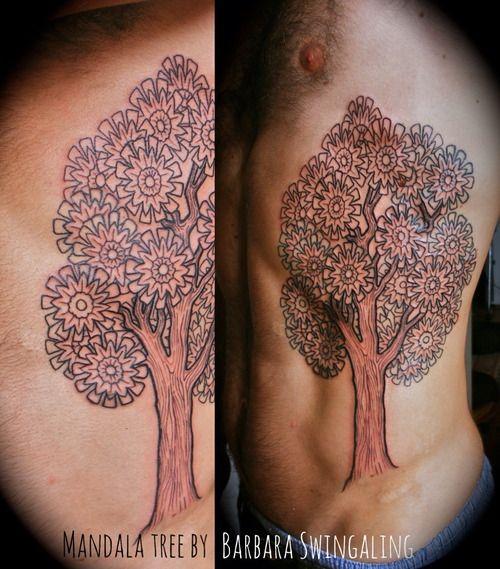 mandala tree by Barbara Swingaling