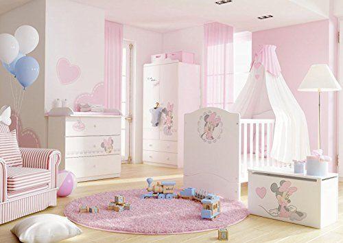 Kinderzimmer Set Kindermobel Minnie Mouse Babyzimmer Bestehend Aus Kleiderschrank Kinderbett Mit Matratze B Quartos De Bebes Decorados Quarto Bebe Quartos