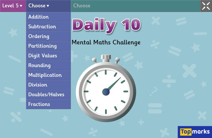 Daily 10 - Mental Maths Challenge IWB Teaching resource for Years 1-6