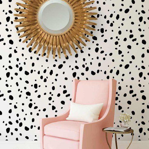 Dalmatian Spots Allover from Cutting Edge Stencils http://www.cuttingedgestencils.com/dalmatian-spots-stencil-dots-wallpaper-pattern.html