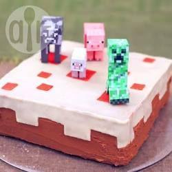 Le gâteau Minecraft @ allrecipes.fr