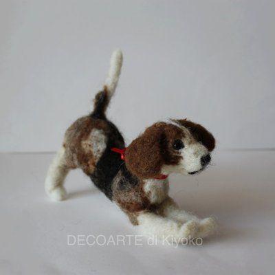 Cane beagle in feltro