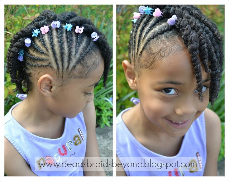 Beads, Braids and Beyond: Side Cornrows with Two Strand Twists