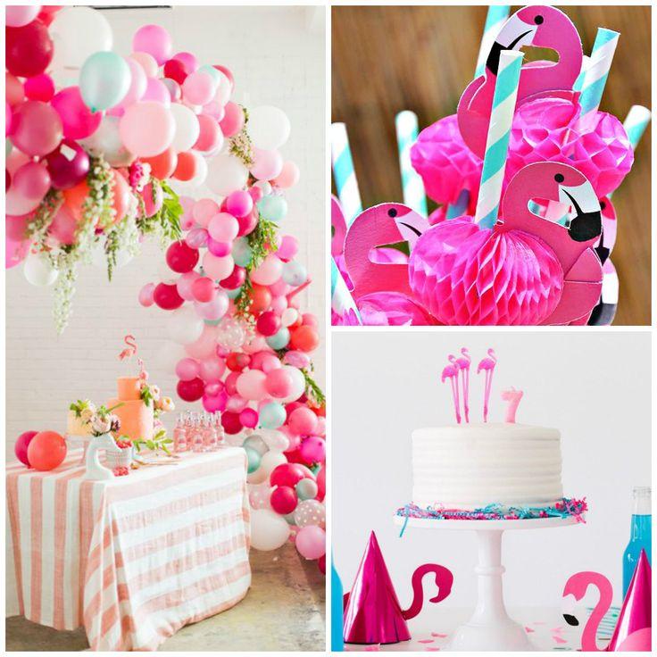 Decoração de festa tema Flamingos