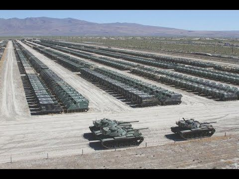 US Military WORLDS LARGEST m1 Abrams Tank Stockpile - YouTube