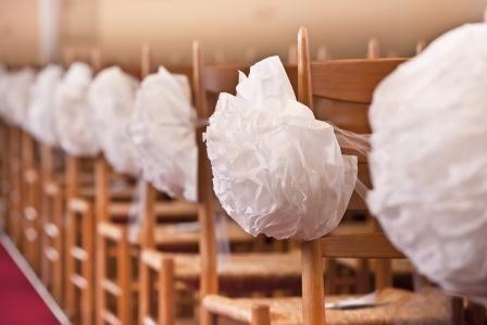 Deko Kirche ganz einfach, aus Servietten church wedding decoration