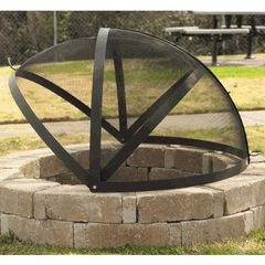 "40"" Fire Pit  Screen for Extra Large Fire Pits"