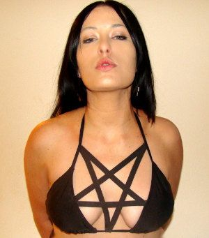 Pentagram Bikini for Goth girls who want Satanic Tan by MASSblack, $55.00