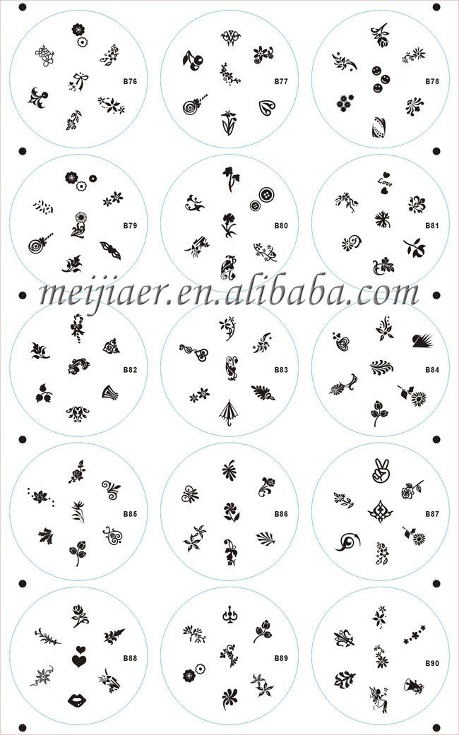 Acrylic Nail Art Stencils The Best Inspiration For Design And