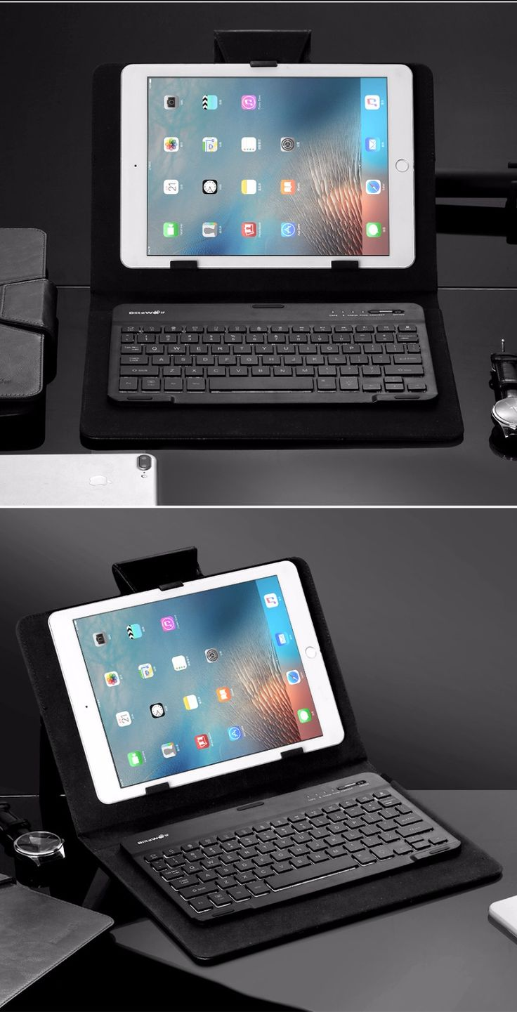 BlitzWolf® 3 Colors LED Backlight Bluetooth Keyboard PU Leather Case For 7-10 Inch Tablets iPad Samsung Tab