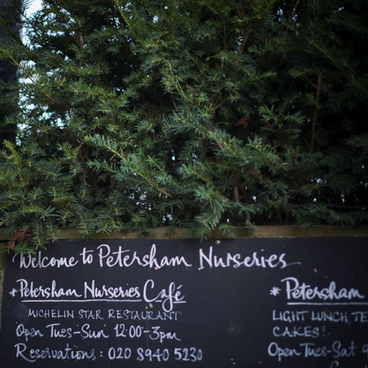 Petersham Nurseries Church Lane, off Petersham Road, Richmond Surrey TW10 7AG