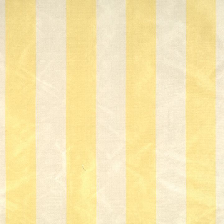 Silk stripe fabric in yellow and cream - beautiful for unlined curtains