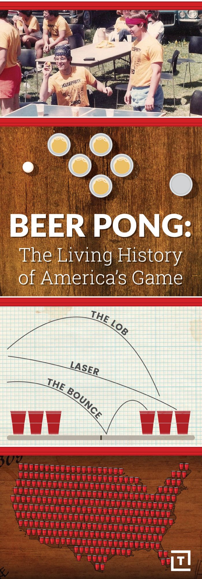 After interviewing alumni from the four corners of the US, combing the archives of the country's oldest student newspaper, and consulting several pong prophets who claim to see the game's future, we can now tell you, definitively, about its uncanny past. Behold: the history of beer pong.