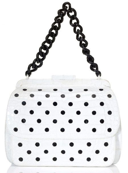 Nancy Gonzalez Resort 2013 (16)Shiny Black, Shoulder Bags, Polka Dots, Nancy Gonzalez, Design Handbags, Dots Shoulder, Black Dots, Gonzalez Shiny, Fashion Handbags