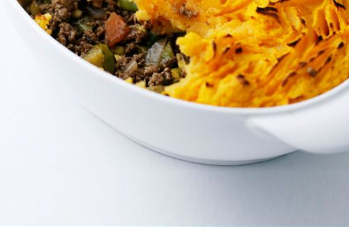 Quorn cottage pie with sweet potato thatch recipe - Channel4 - 4Food
