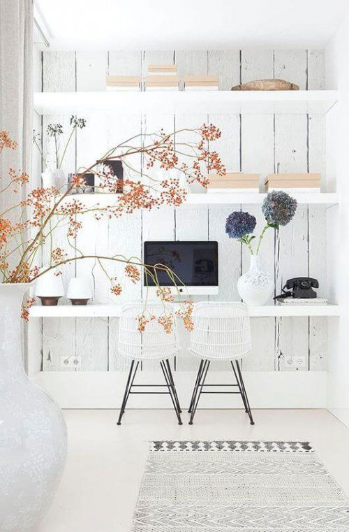 Exposed Wood Home Office - Scandinavian Interiors