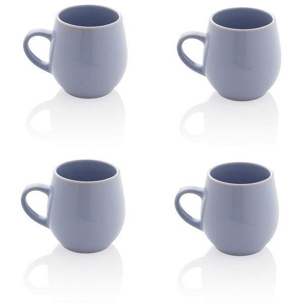 kitchen & dining, drinkware, set of 4 mugs, stoneware mugs and tea