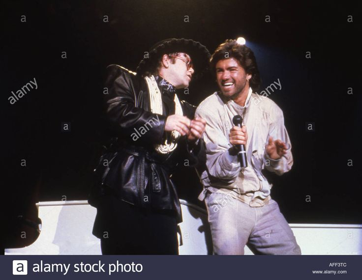 Download this stock image: ELTON JOHN with George Michael - AFF3TC from Alamy's library of millions of high resolution stock photos, illustrations and vectors.