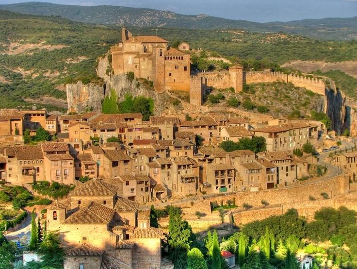 Villa medieval de Alquezar.  Imagen del archivo de la Comarca del Somontano…
