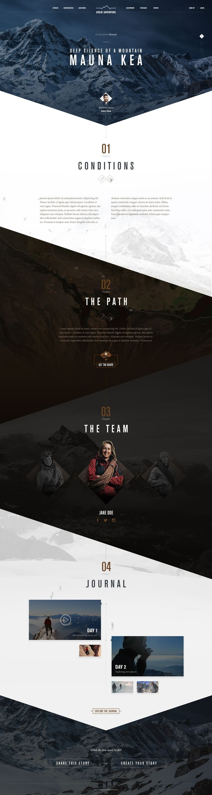 Great Adventure by Tansel Turunz| Weekly web design Inspiration for everyone! Introducing Moire Studios a thriving website and graphic design studio. Feel Free to Follow us @MOIRE to see more remarkable pins like this. Or visit our website www.moirestudio