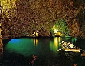 Swim through the emerald grotto off the Amalfi Coast