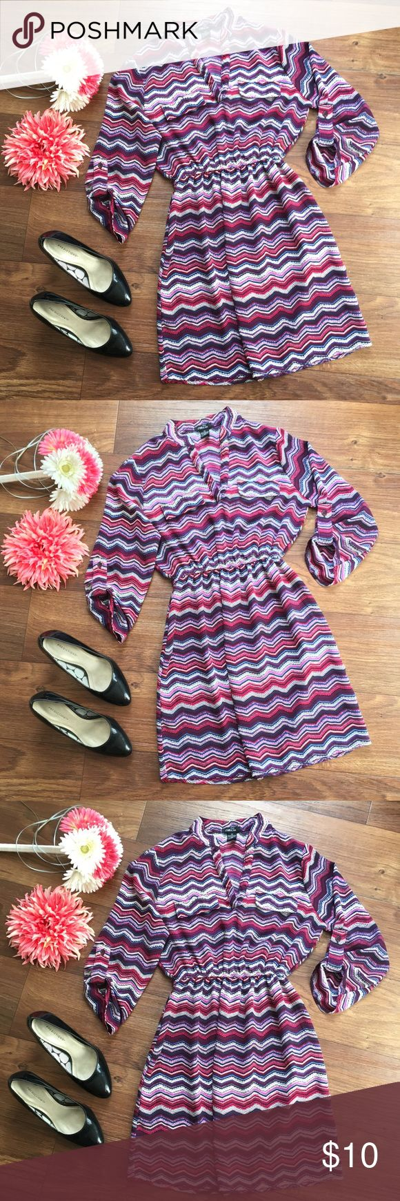 Rue 21 dress size XS Rue 21 dress size XS Super cute! -Doesn't fit me anymore :( worn 1-2 times  Colors: purple, blue, white, black, pink Rue 21 Dresses