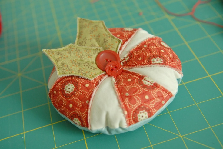 Peppermint Swirl Pincushion