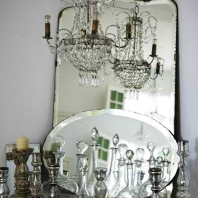58 best beautiful mirrors images on pinterest mirror mirror vintage mirrors and chandeliers hearts of glass like the idea of layered mirrors aloadofball Gallery