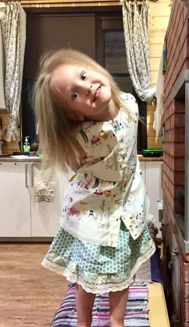 """Купить Детский костюм Бохо"""" Лето у моря"""" - детский костюм, костюм для девочки, хлопок органический"""