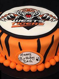 Cake Ninja, Cake Decorating Brisbane | CELEBRATION CAKES www.cakeninja.com.au Wests Tigers NRL football cake