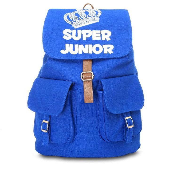 KPOP SUPER JUNIOR backpack SJ schoolbag