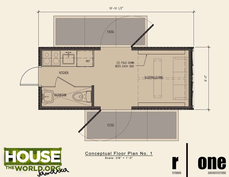Shipping container home floor plan 20 ft houses for Shipping container homes floor plans