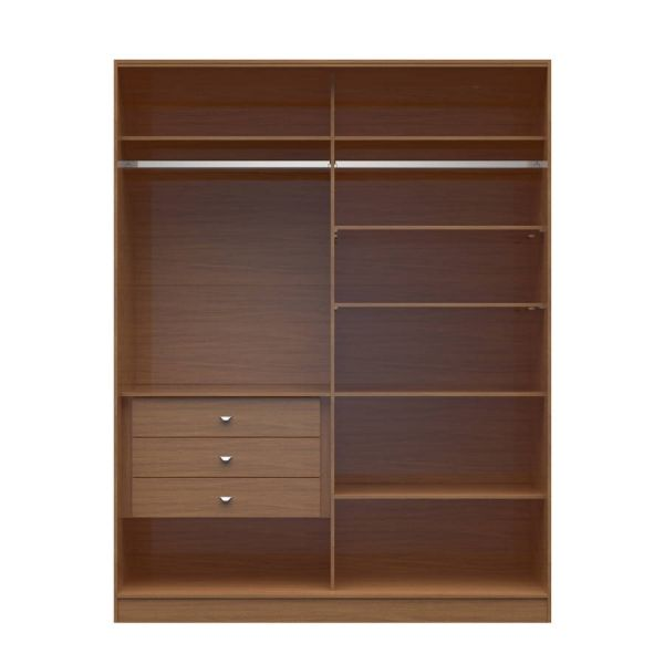 Chelsea Maple Cream MDF 2.0 70.07 Inch Wide 3 Drawers Full Wardrobe