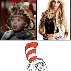 Click to see the picture...|Puberty, look at what you have done to little Cindy Lou Who. -Sincerely 90's kids