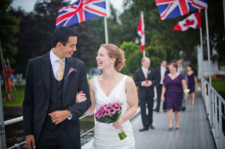 Walking down the dock at the RCYC. Probably my favorite shot from the wedding!