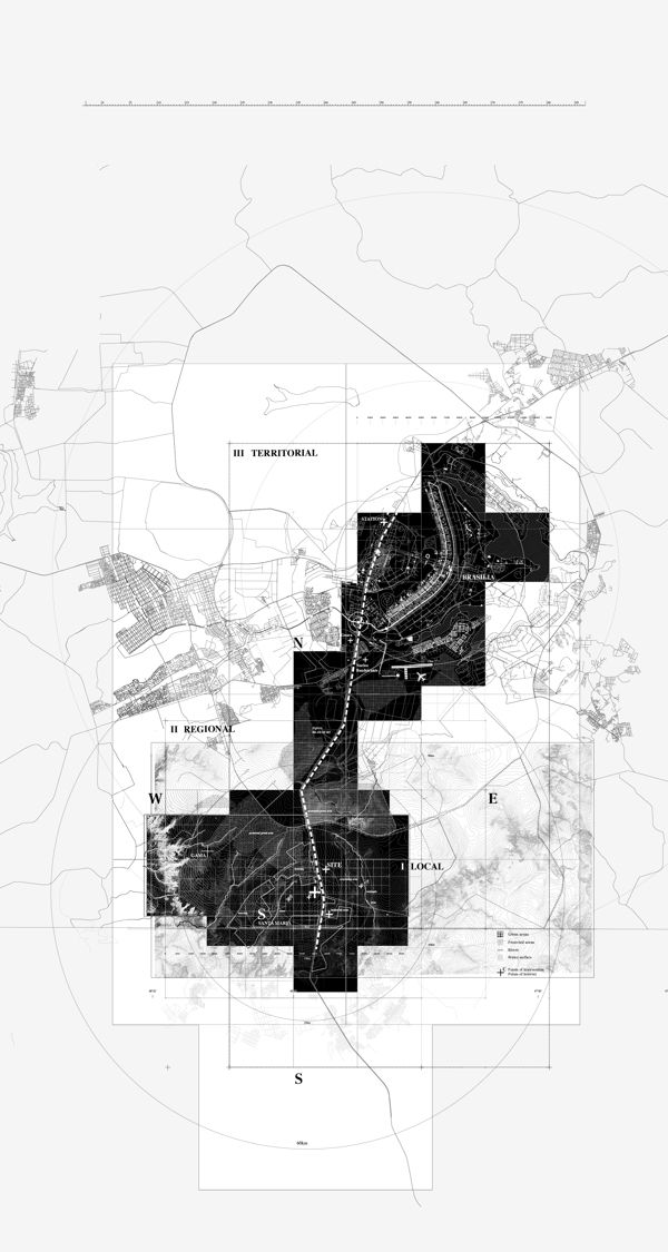 love the contrast of black and white Urban satellite by Alexander Daxböck, via Behance