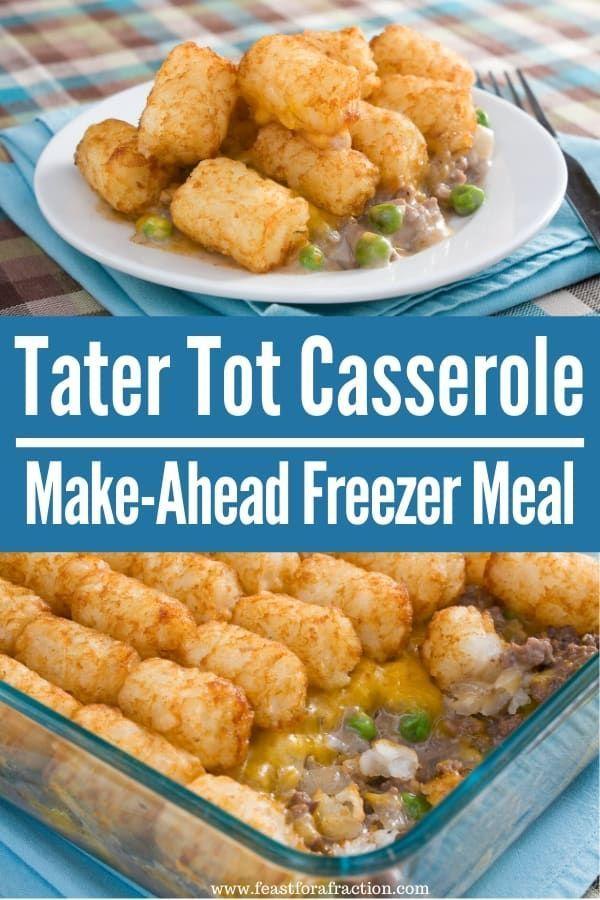 Tater Tot Casserole   Recipe in 2020   Tater tot casserole ...