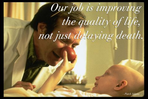 Patch Adams. Made us laugh and cry!