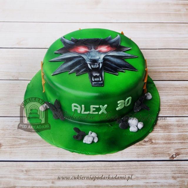155BA Wiedźmin - tort z głową wilka. The Witcher cake.
